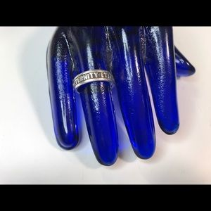 Jewelry - Vintage Sterling Silver Eternity Ring 7 1/4 in